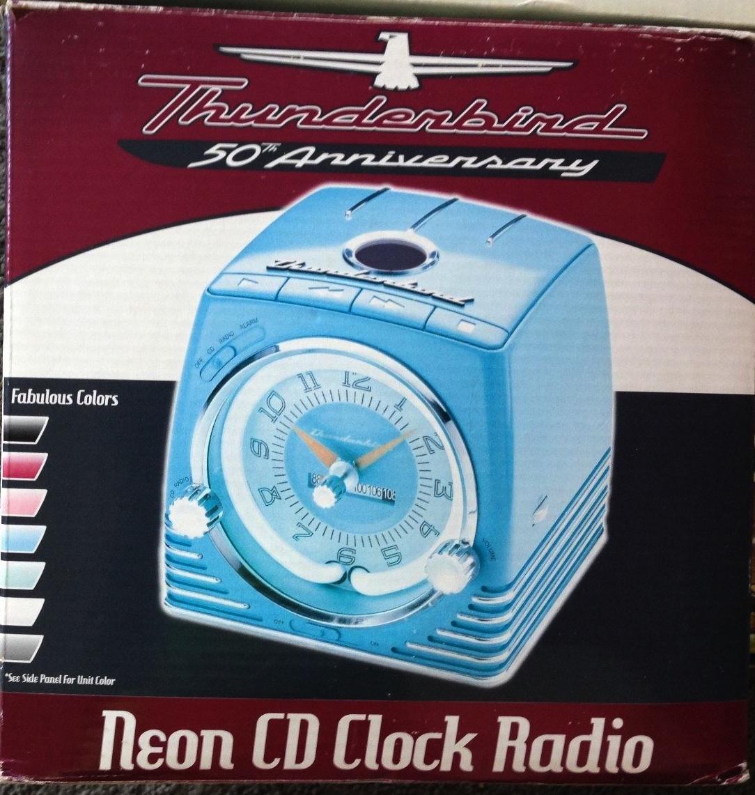 And clothing thunderbird neon clock radio cd player combo